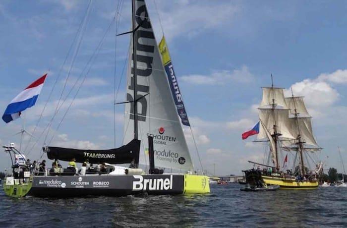 Team Brunel reeds blikvanger tussen varend erfgoed tijdens SAIL-IN Parade