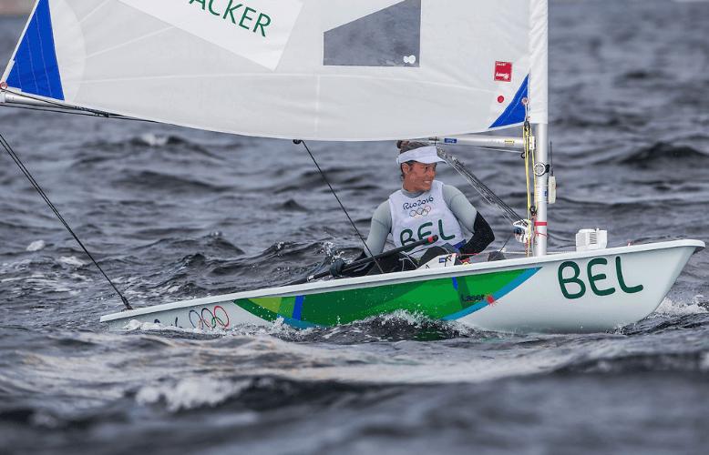 Evi Van Acker voorlopig 4de in Laser Radial