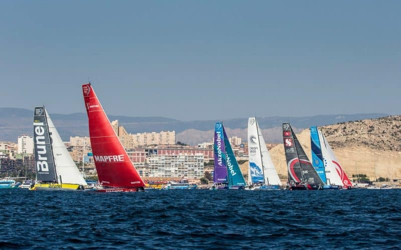 Alicante stopover, in-port race. Photo by Beau Outteridge/Turn the Tide on Plastic. 14 October, 2017.